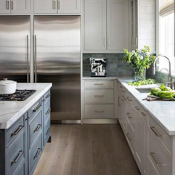 Alpine Mist Marble Kitchen Countertops Design Ideas