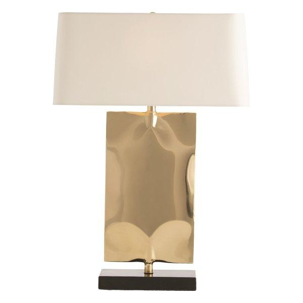 Navarro polished brass rectangular table lamp aloadofball Image collections