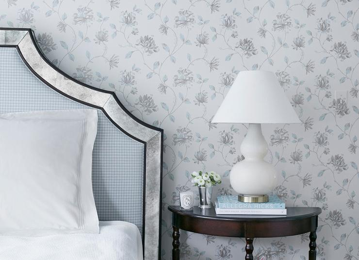 Blue And Gray Shabby Chic Wallpaper Design Ideas