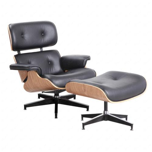 Incredible Eames Style Lounge Chair Ottoman Genuine 100 Percent Grain Pdpeps Interior Chair Design Pdpepsorg
