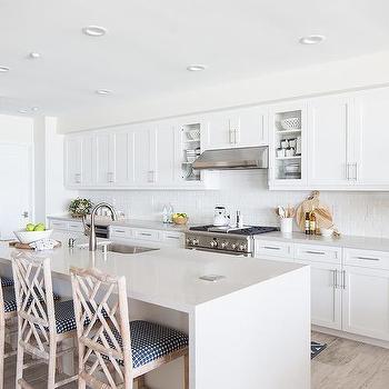 Kitchen Island Quartz beige kitchen island stools design ideas