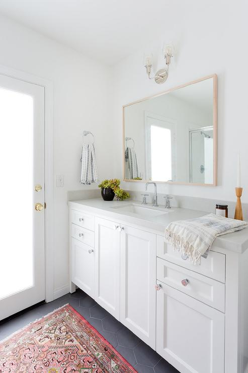 Restoration Hardware Pharmacy Double Vanity With Cement Tile