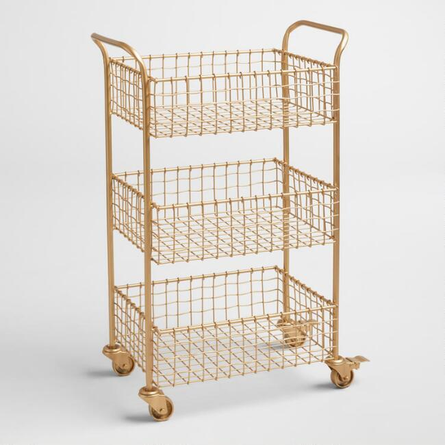 White Austin 3 Tier Metal Cart World Market