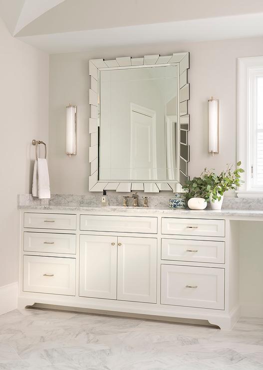 Rectangular Sunburst Mirror with Calliope Tall Bath Lights ...