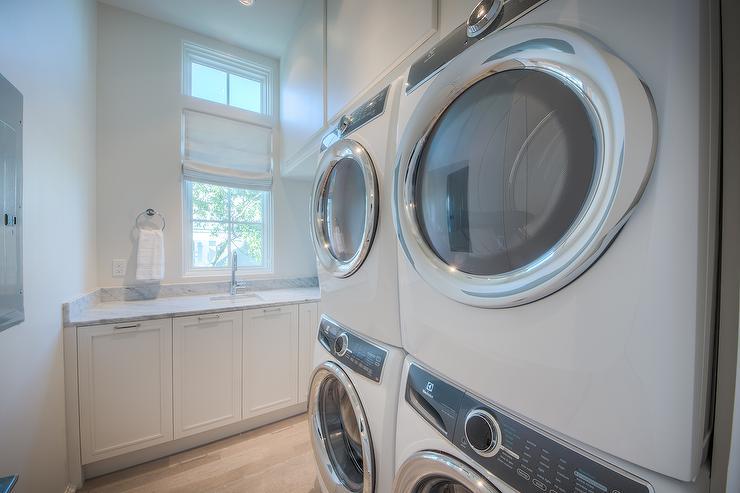 Dark Grey Washers And Dryer Design Ideas