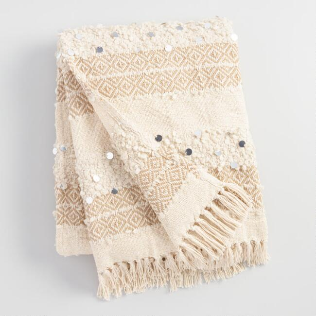 Moroccan Cream Wedding Throw