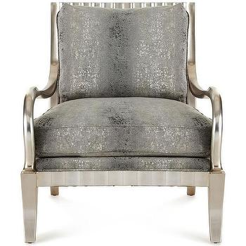Massoud Jazzy Grey Wing Chair