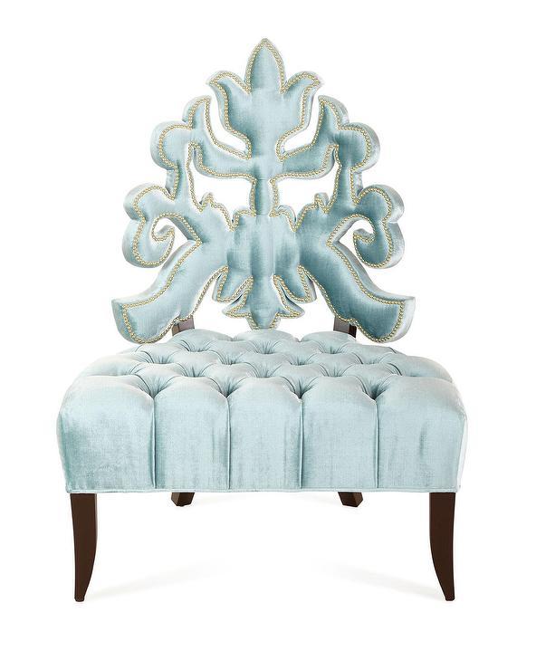 Haute House Arielle Tufted Blue Accent Chair