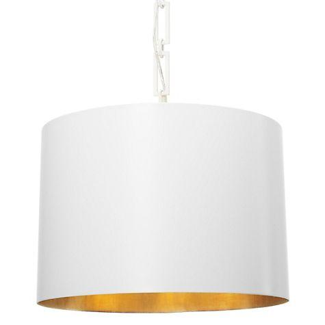 ashton white metal drum shade chandelier