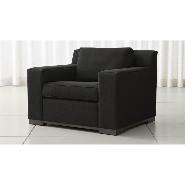 Avante Graphite Faux Suede Chair