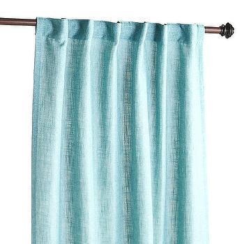 Threshold Metallic Trellis Curtain Panel In White