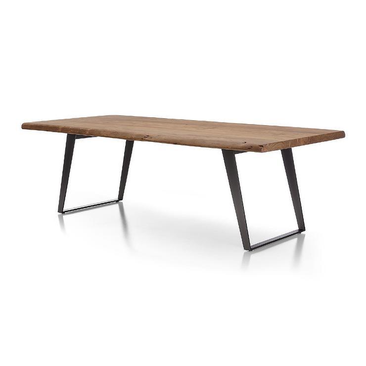 Yukon Wood U Steel Legs Dining Table