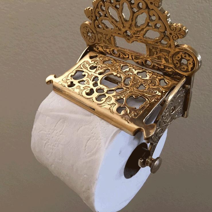 Vintage   Bathroom   American Tradition Victorian Toilet Paper Holder    Tissue Roll Holder, Solid Brass, Bathroom Hardware