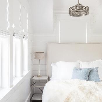 Ceiling fan design ideas round vintage ceiling fan over ivory headboard aloadofball Images