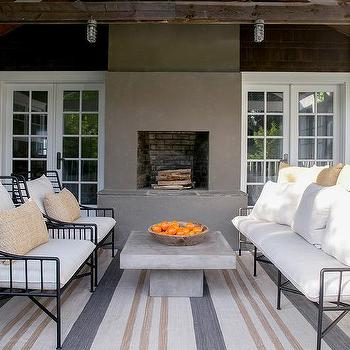 Tan And Gray Striped Outdoor Rug Design
