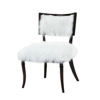 Branches White Fur Chair