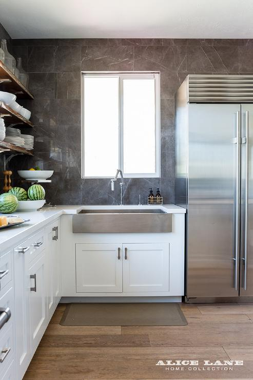 Beautiful Wide And Shallow Stainless Steel Apron Sink