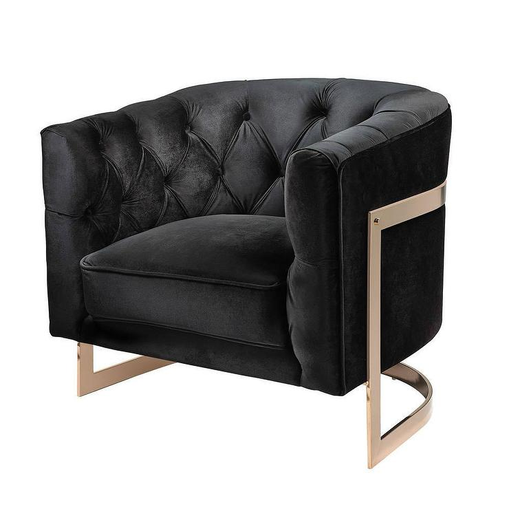 Custom Black Accent Chair Decor