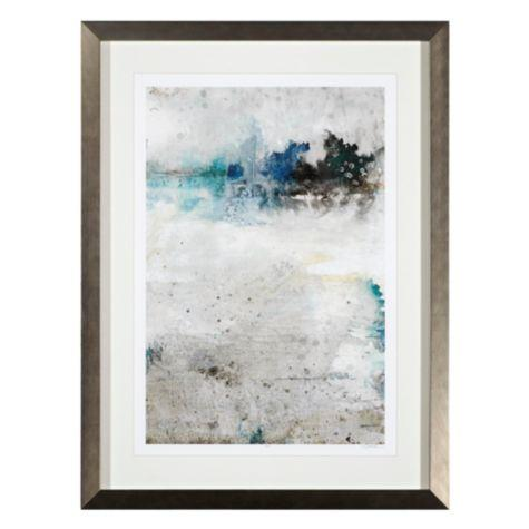 Morning Coolness 2 Abstract Silver Blue Painting