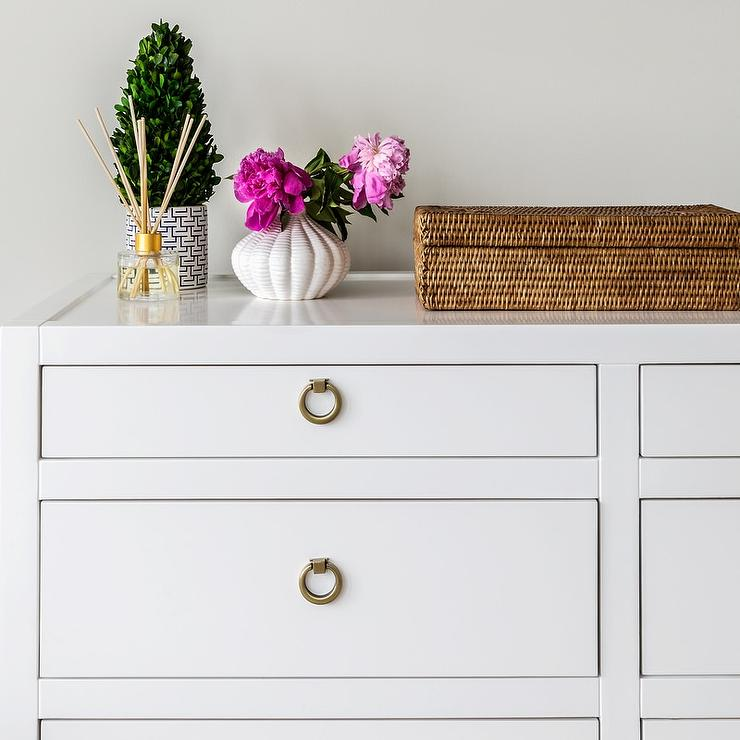 White Dresser With Satin Nickel Ring Pulls