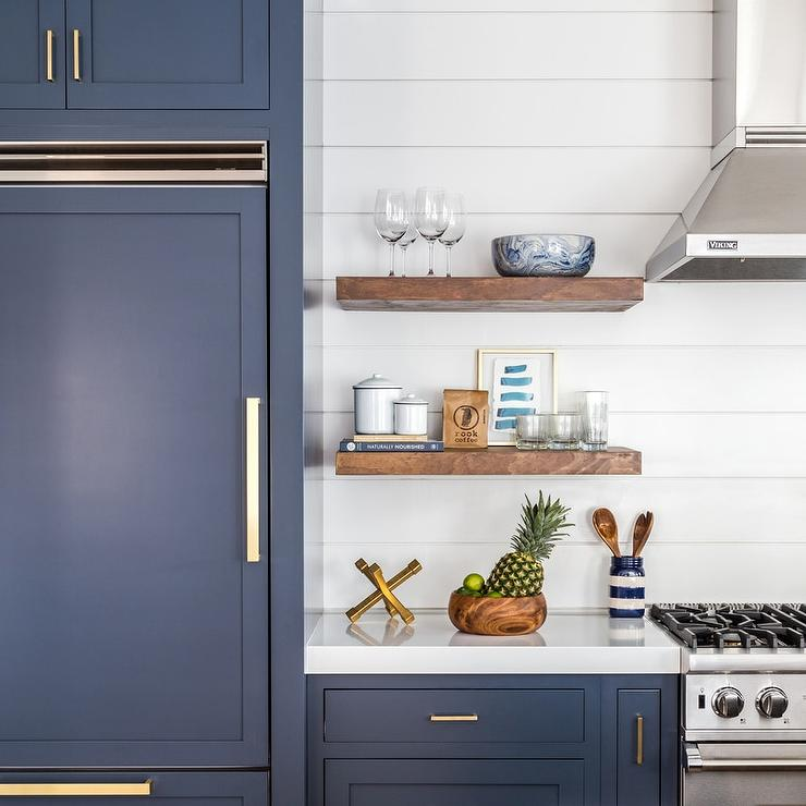 navy shaker kitchen cabinets with brushed brass pulls. Black Bedroom Furniture Sets. Home Design Ideas