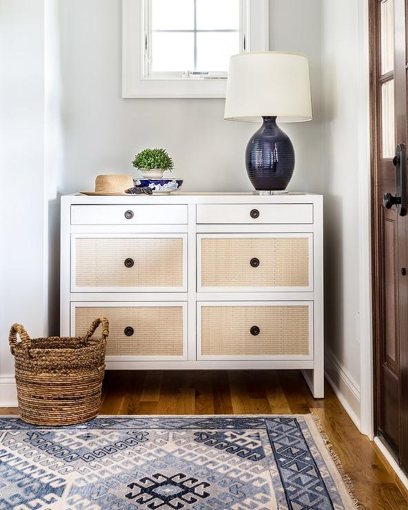 White drawer front Slab White Dresser With Tan Rattan Drawer Fronts Decorpad White Dresser With Tan Rattan Drawer Fronts Transitional