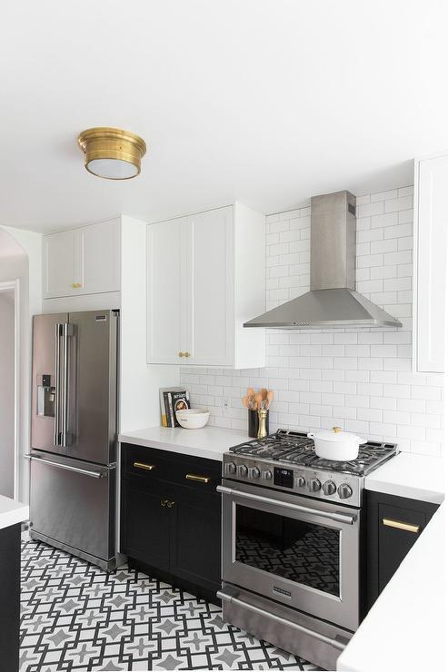 Two Tone Ikea Kitchen Cabinets Transitional Kitchen