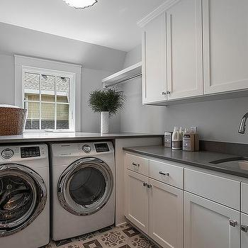 Enclosed Washer And Dryer Below Window