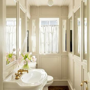 Powder Room Wall Mirrors Design Ideas