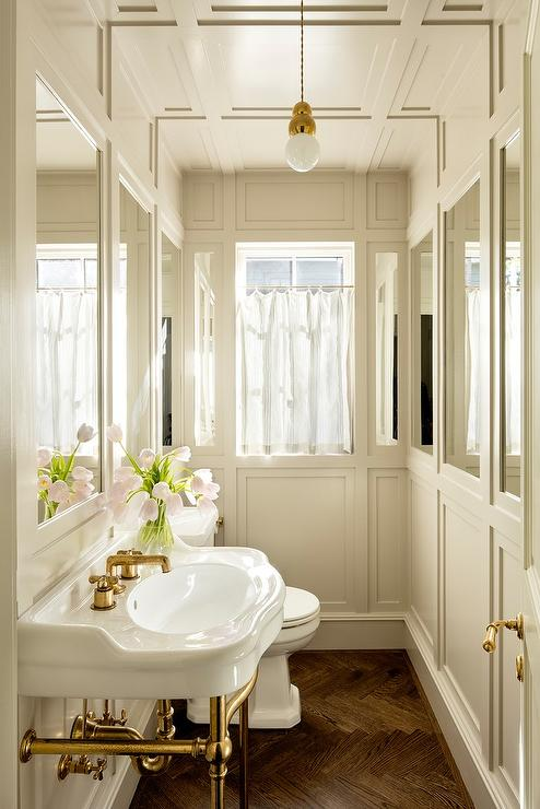Powder Room Wainscoting Design Ideas