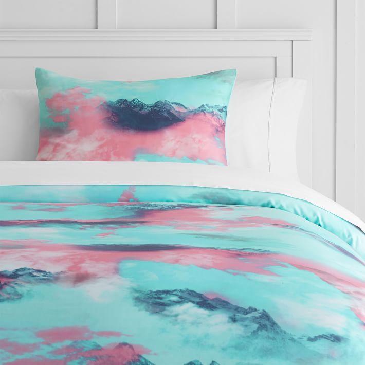 Popular Ivivva Altered Skies Blue Pink Bedding NB55