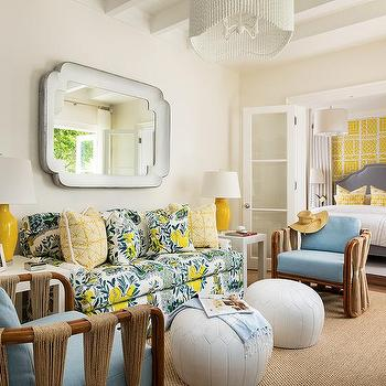 McCann Design Group Yellow And Blue Living Room