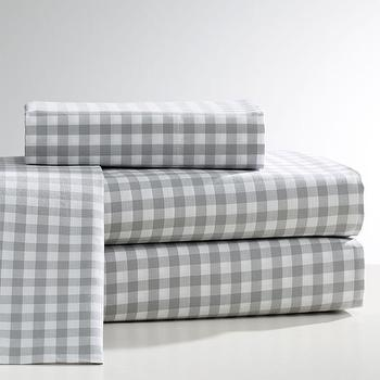 City Gingham Duvet Cover Shams West Elm
