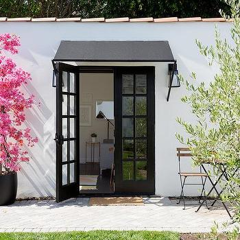 Black Modern Front Door Awning Design Ideas