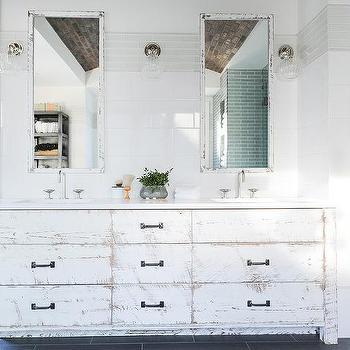 Whitewashed Vanity Design Ideas
