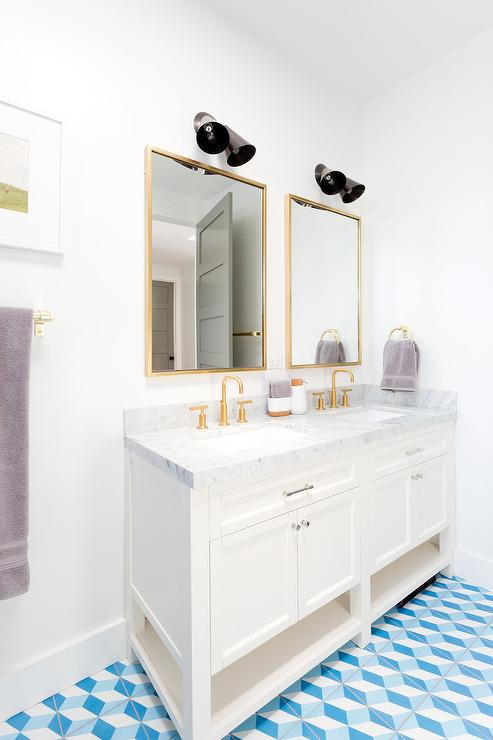 amazing marble countertop sink design and modern faucet.htm brushed gold faucets with carrera marble top bath vanity  carrera marble top bath vanity