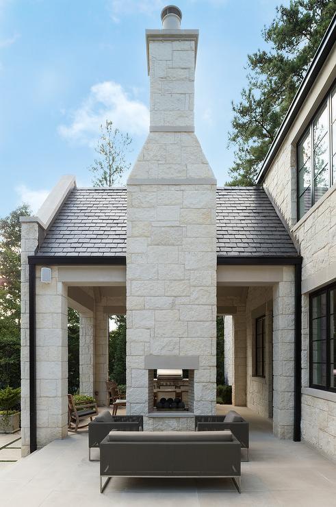 patio dual sided fireplace