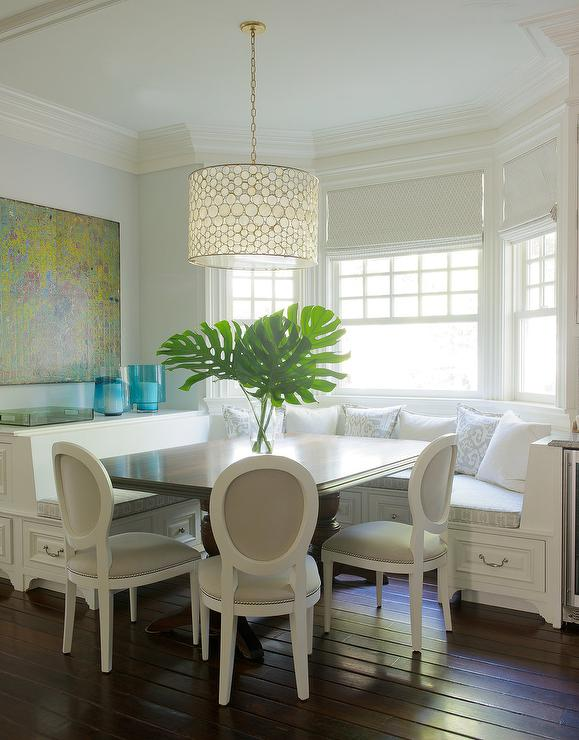 Blue Armless Dining Banquette With Crate And Barrel Dakota