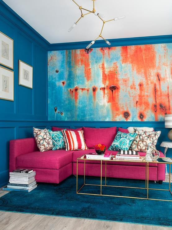 Blue And Orange Living Room Ideas: Orange And Blue Living Room Design Ideas