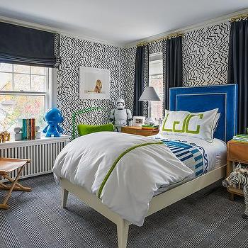 Black And White Plaid Boy Bedroom Rug Design Ideas