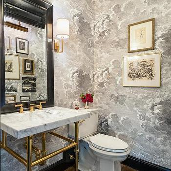Painting Powder Room Ceilings Design Ideas