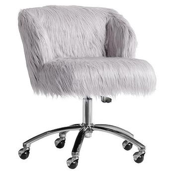 Gray Himalayan Wingback Desk Chair