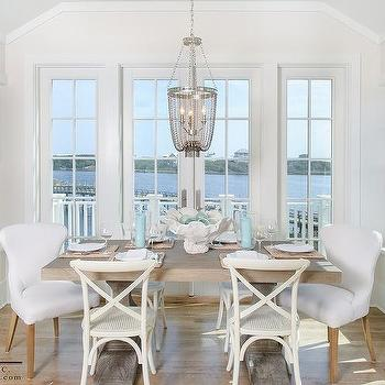 Gray X Back Dining Chairs Design Ideas