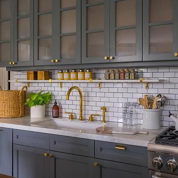 White Horizontal Brick Tiles Design Ideas