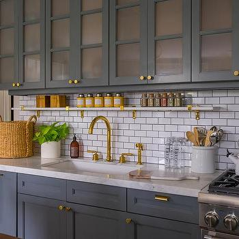 Horizontal Brick Kitchen Backsplash Tiles Design Ideas