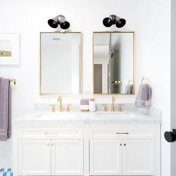 Blue Bathroom Vanity Transitional Bathroom Mark