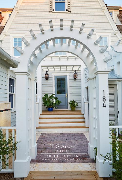 Good Arched French Pergola