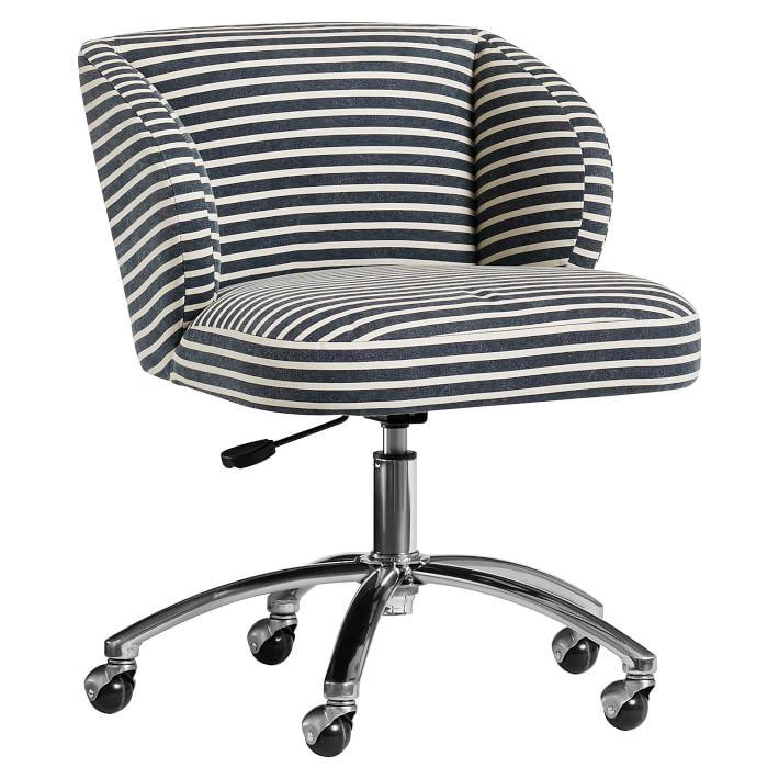 Pleasant Northfield Wingback Striped Desk Chair Gmtry Best Dining Table And Chair Ideas Images Gmtryco