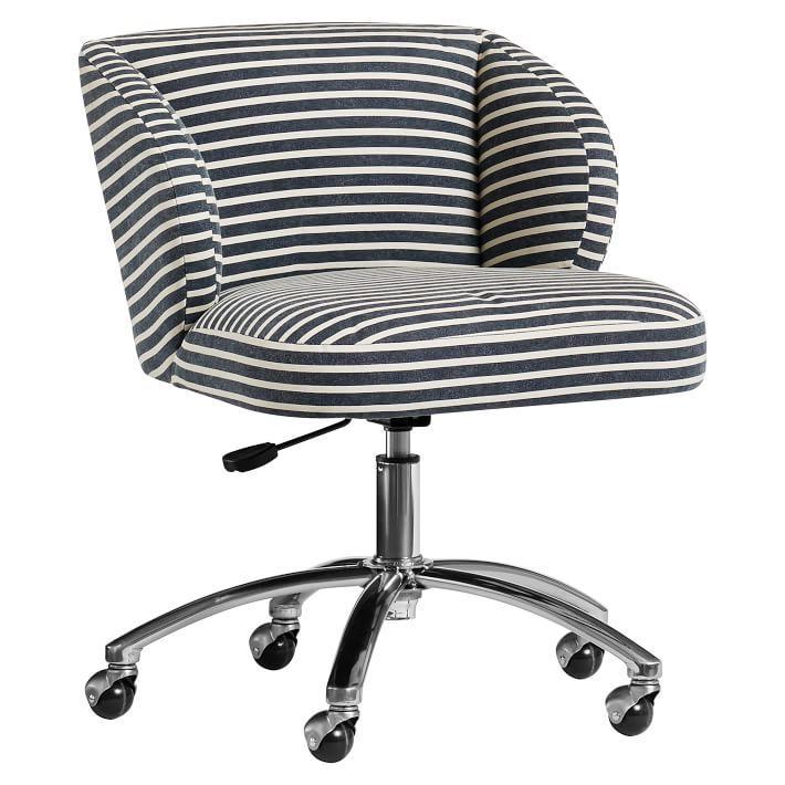 northfield wingback striped desk chair