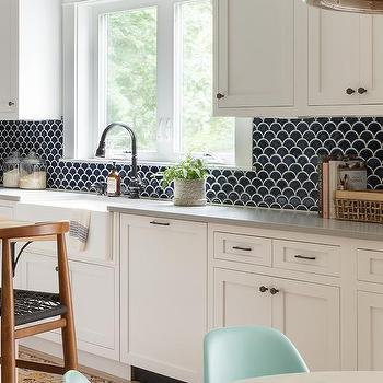 Black Scale Kitchen Wall Tiles Design Ideas